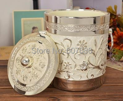Vintage Ice Bucket Home Bar Pub Bistro Silvery White Metal Ice Bucket Home Party Accessory Free Shipping(China (Mainland))