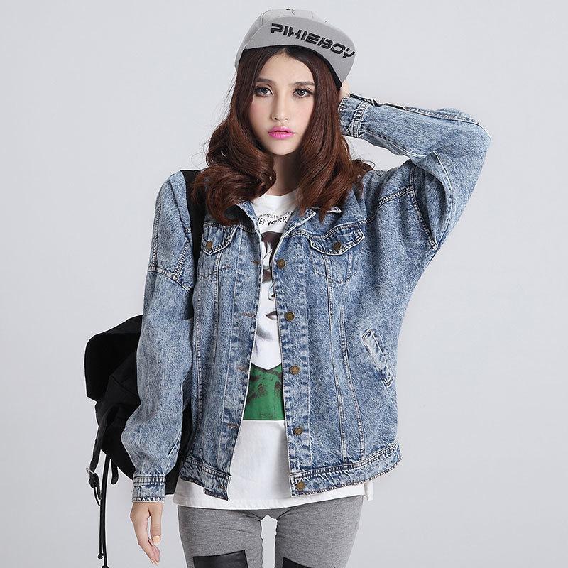 2015 Fashion Women Jeans Jacket Ladies Denim Coat Woman Washed Jeans Loose Tops Fashion Vintage Blouses Boyfriend Canvas ShirtОдежда и ак�е��уары<br><br><br>Aliexpress