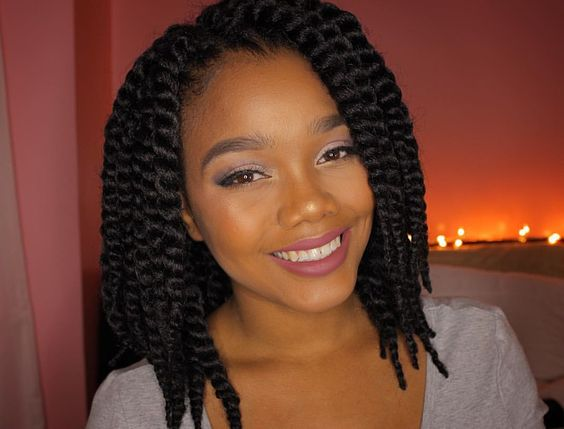 Images Of Short Twist Braids - Braids