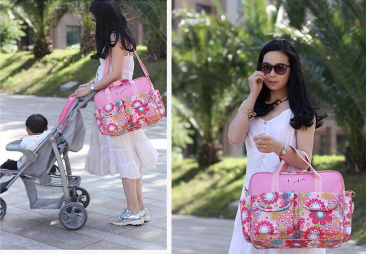 Multifunctional nappy bag large capacity mother bag nappy baby maternity cross-body infanticipate mummy bags(China (Mainland))