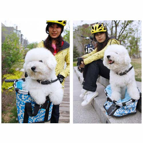 Wicker Pet Dog Bike Basket - Dog Bicycle CarrierVan truck Pet Carrier(China (Mainland))