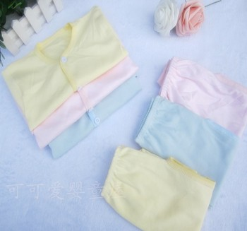 Free Shipping newborn baby underware 100% cotton long sleeved baby clothes set for boys and girls childrens sleepware pajamas
