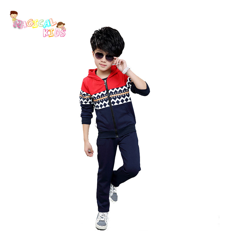 2016 New Arrrival Brand New Long Sleeve Clothes Pants Boys Suit Children Clothes Sets Boy and Girl Hooded Clothing Sets(China (Mainland))