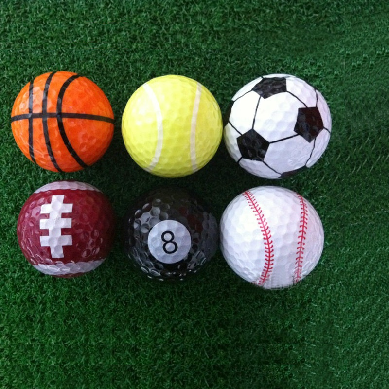 Colorful Golf Balls Six Different Sport Balls 6pieces for One Lot Funny Golf Balls Training Golf(China (Mainland))