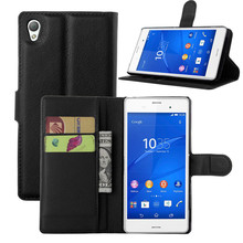 Buy Stand Wallet Cover Case Sony Xperia M4 Aqua Flip Leather Case Coque Sony Xperia M 4 Aqua Magnetic Cover Card Holder for $3.39 in AliExpress store