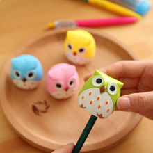 2016 New Mini Cute Lovely Owl Pattern Pencil Sharpener School Kid's Favorite Beautiful(China (Mainland))
