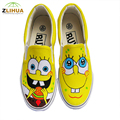 JUP New Cartoon Graffit Hand Painted Canvas Shoes for Boys Girls kids Shoes Low To Help