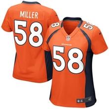 2016 Women Denver broncos, Manning 18#, 58# Von Miller, Ladies blue orange, 100% stitched logo,free shipping(China (Mainland))