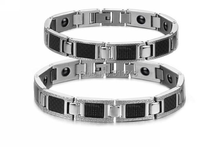 Black Energy Magnetic Stone Radiation Protection Bracelet Health Care 316L Stainless Steel Jewelry Accessories - Ancient And Modern Craft Ornaments CO.,LTD store