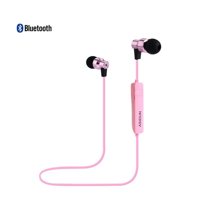 2016 new metal-ear Bluetooth headset 4.1 fashion sports wireless stereo headset Free shipping(China (Mainland))