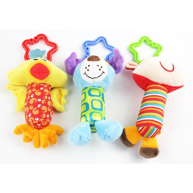 Новый детские игрушки гремят мой первый звон трио колокольчик многофункциональный плюшевые игрушки коляска мобильные подарки WJ148
