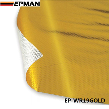"""EPMAN 39"""" x 47""""Piece SELF ADHESIVE REFLECT A GOLD HEAT WRAP BARRIER High Quality L EP-WR19GOLD"""