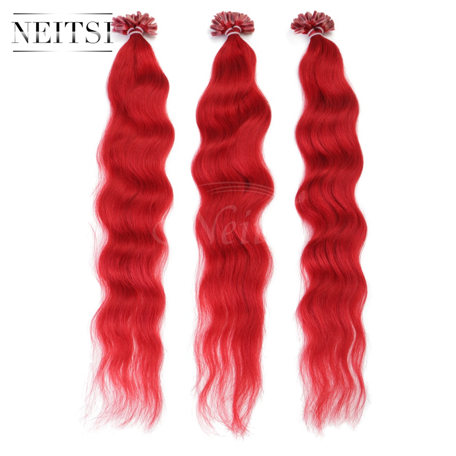Pre Bonded 100 Human Hair Extensions 14