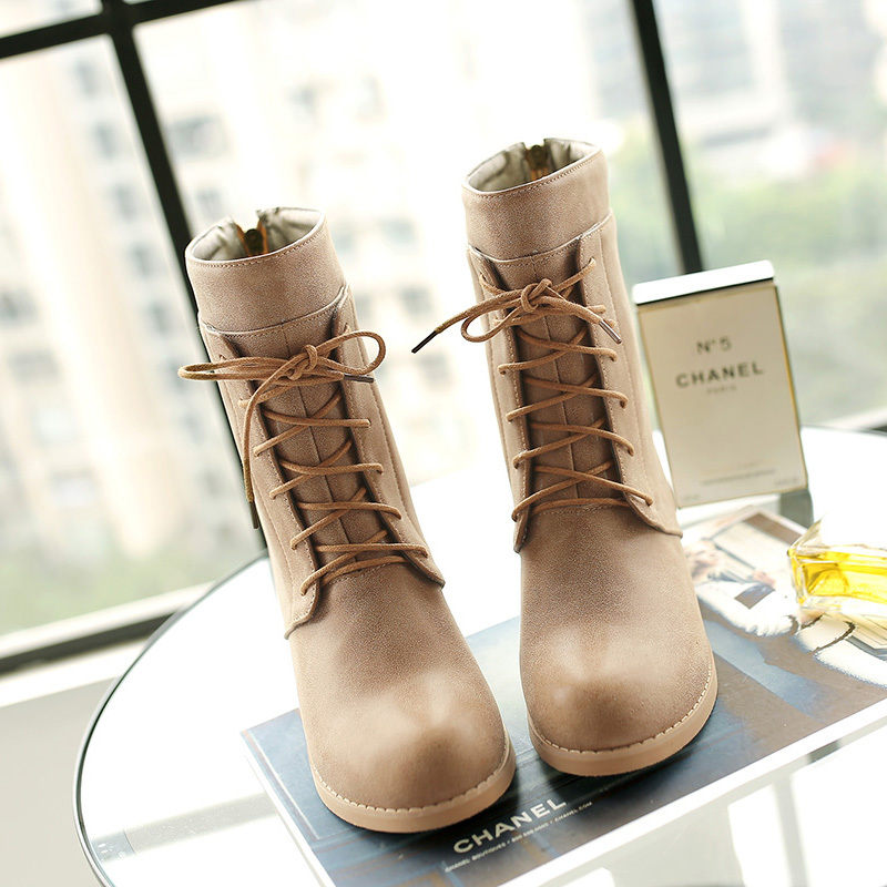 Leather Ankle Boots Women Autumn/Winter Shoes Martin Boots Motorcycle Ankle Boots For Women Botas Femininas 2015 Zapatos hombre