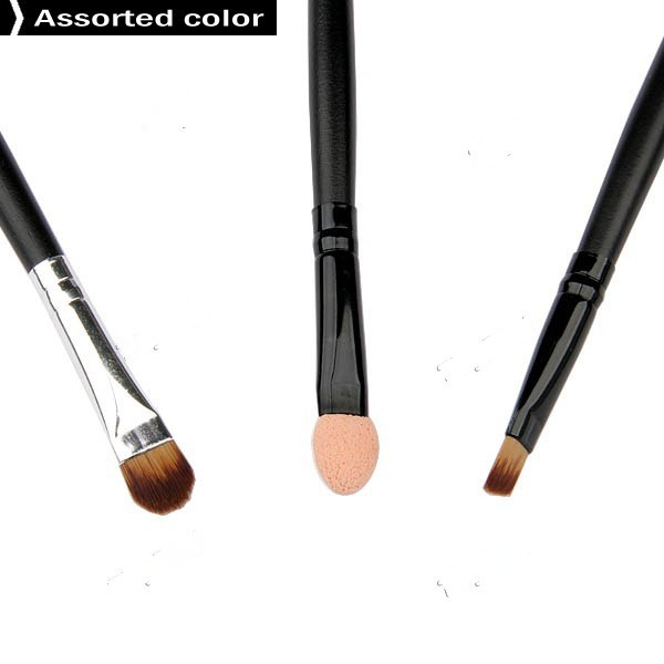 CosyTrade 3 Pcs Beauty Professional Make-up Brush Cosmetic Brushes Set Eye Shadow Blushers - Color Assorted HBI-4428(China (Mainland))
