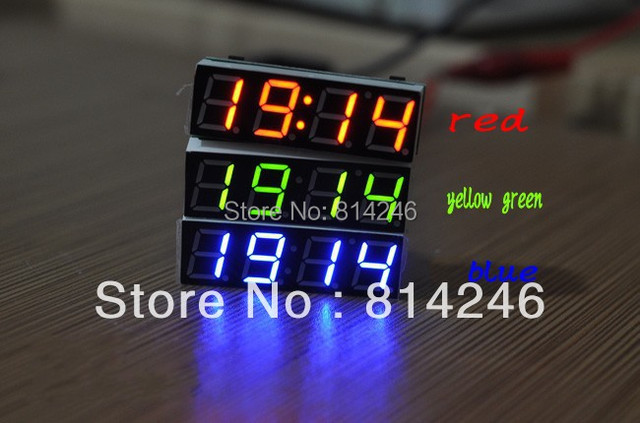 Free  shipping,,Car clock voltage meter ,led digital tube electronic clock time thermometer vehienlar