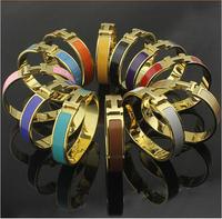 100% Gurantee 2014 Celebrity Design Style Silver Gold brand bijoux bracelet Bangle Titanium Steel 6 Colors