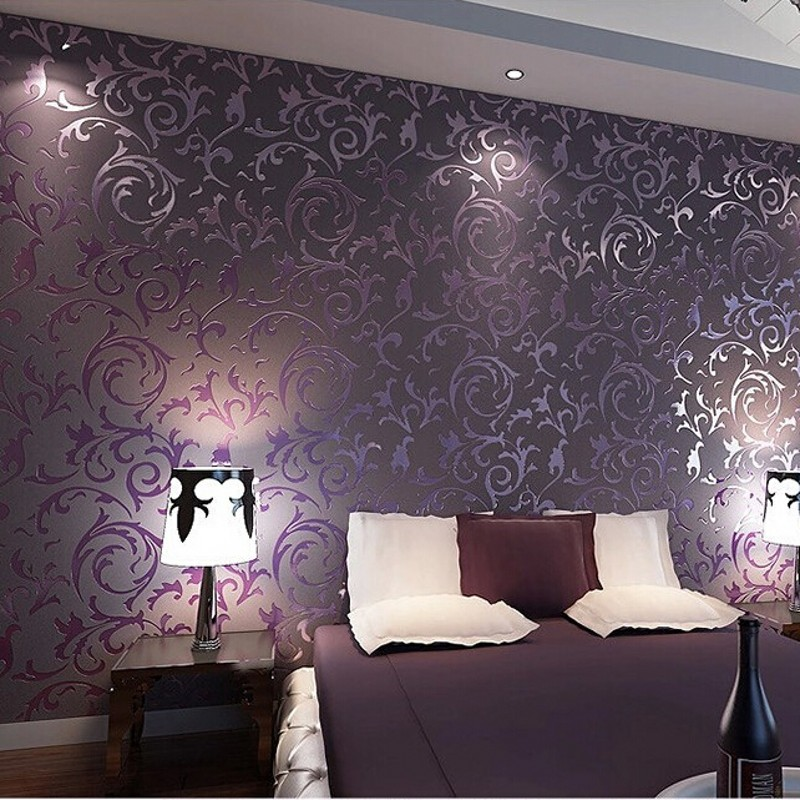Wallpaper high quality wall paper 3d fashion papel de for 3d wallpaper for bedroom