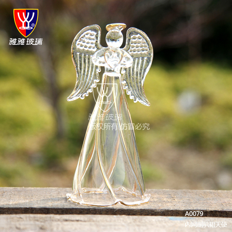 O.RoseLif Handmade Japan High-grade Blessing Glass Angel Decoration Wedding Gift Good Luck With Box(China (Mainland))