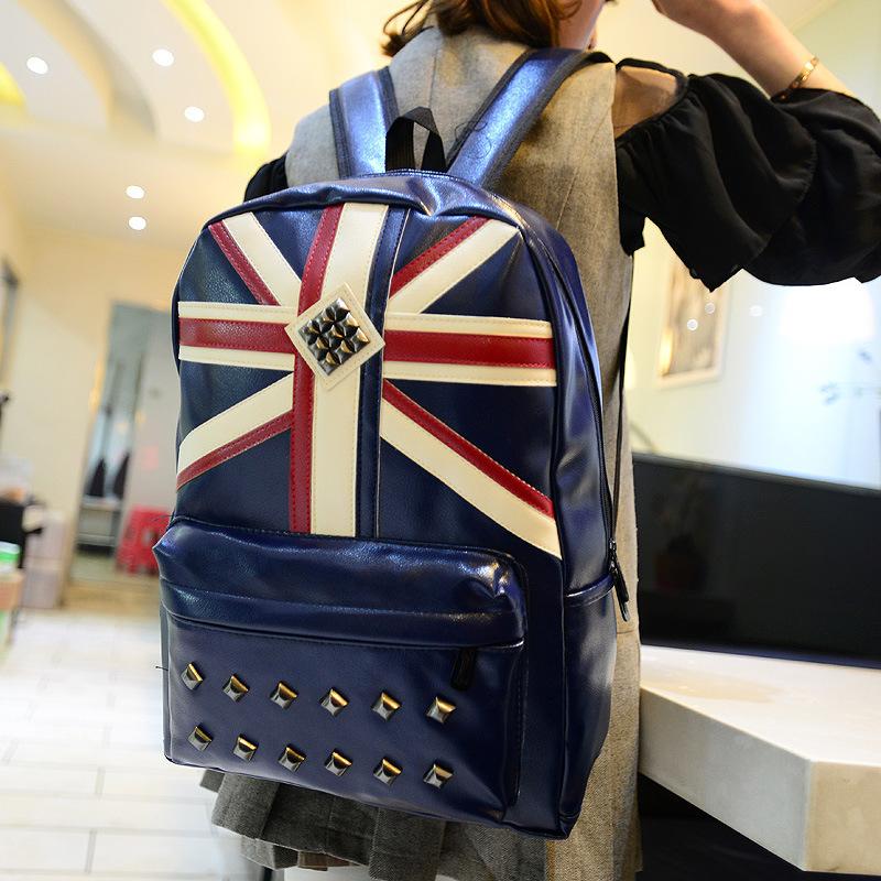 Mochila Infantil Wholesale Manufacturers of New Korean Fashion Bags Leather Shoulder Bag Backpack Liu Dingying Flag Usa Double(China (Mainland))