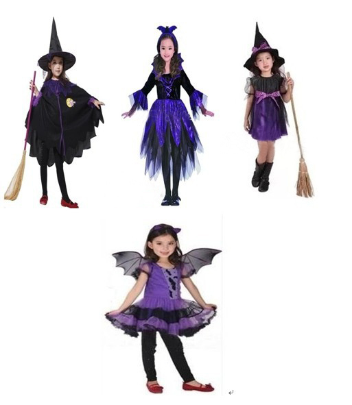 Kids Designing Clothes Games halloween kids Purple wizard