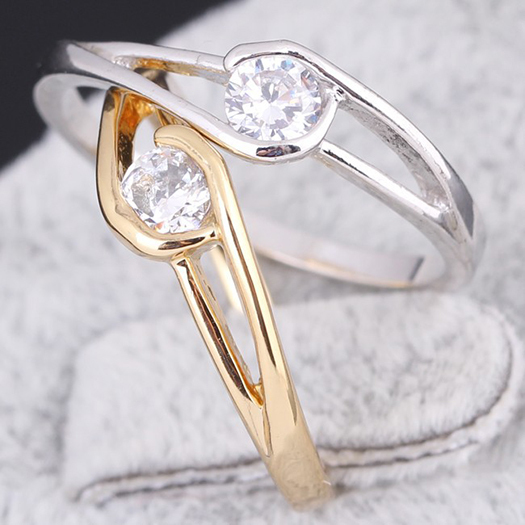 Wedding Ring 18K Gold /Platinum Plated Polish Rings For Women Fashion Brand Jewelry Rings Accessories E-shine Jewelry(China (Mainland))