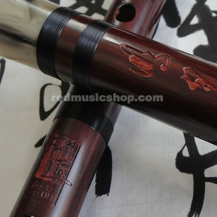 Chinese Musical Instrument Red Sandalwood Wooden Dizi Flute, Dizi Kit(China (Mainland))