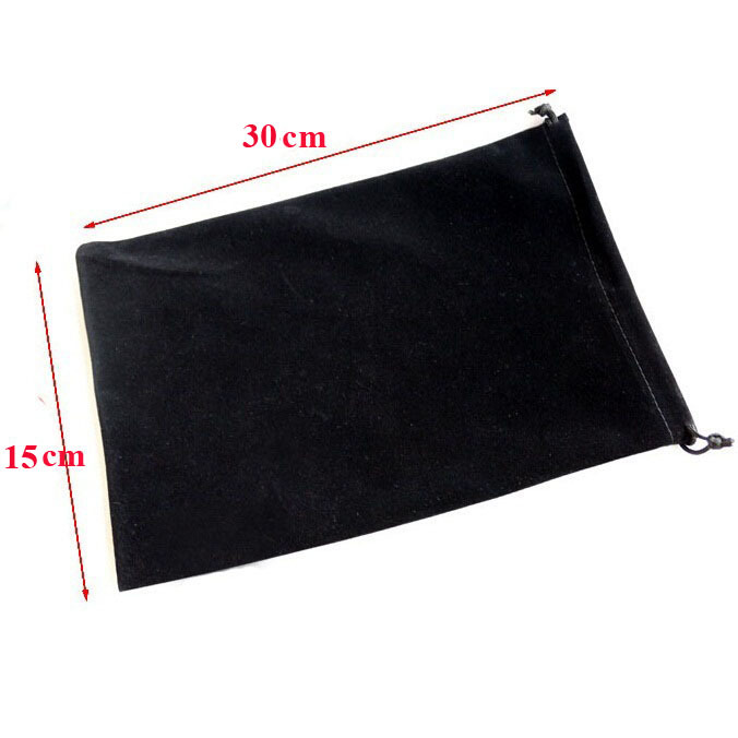 Wholesale 15x30cm Drawstring Black/Blue Big Velvet Pouch Christmas Packaging Gift Bags 20pcs/lot (5 Colors to Choose)(China (Mainland))