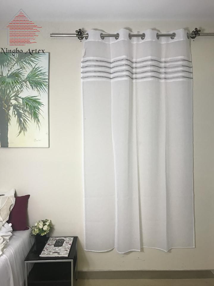 Noir et blanc ray rideaux promotion achetez des noir et blanc ray rideaux promotionnels sur for Rideaux pour salon noir blanc