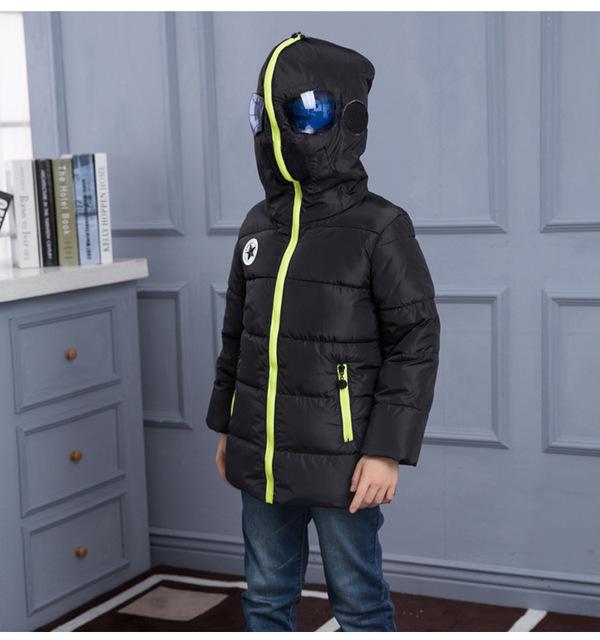 2016 мода зима детская одежда мальчиков пальто верхняя одежда ребенка вниз парки с капюшоном пуховик для мальчиков новое прибытие 110-150