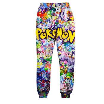 Raisevern 2015 new style 3D jogger pants cartoon pokemon pikachu print joggers pants cute sweatpants for women/men trousers
