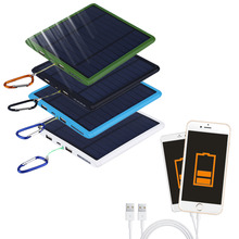 Newest 20000mAh Waterproof double USB Solar Panel Power Bank Solar Charger For Cell Phone Promotion(China (Mainland))