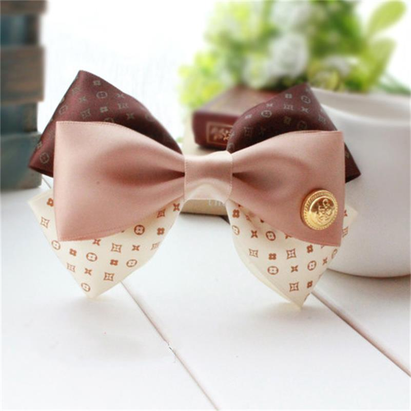 New Fashion Hair Accessories Women Korean Style Hairpins Bows Silk Hair Clip(China (Mainland))