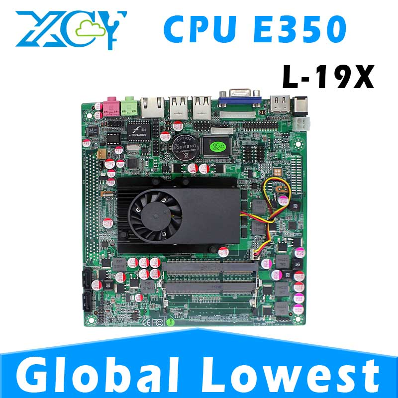 With high-powered CPU XCY L-19X AMD E350 computer motherboard, AMD E350 mother board, mini mother board(China (Mainland))