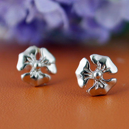 925 sterling silver earring summer style three flowers Korean 925 sterling silver stud earrings for women best Christmas Gifts