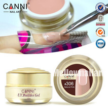 1PC 15ml CANNI Natural Nude Pastel Color UV Builder Gel Camouflage UV Gel Acrylic for Nail Art False Tips Extension 15 Colors(China (Mainland))