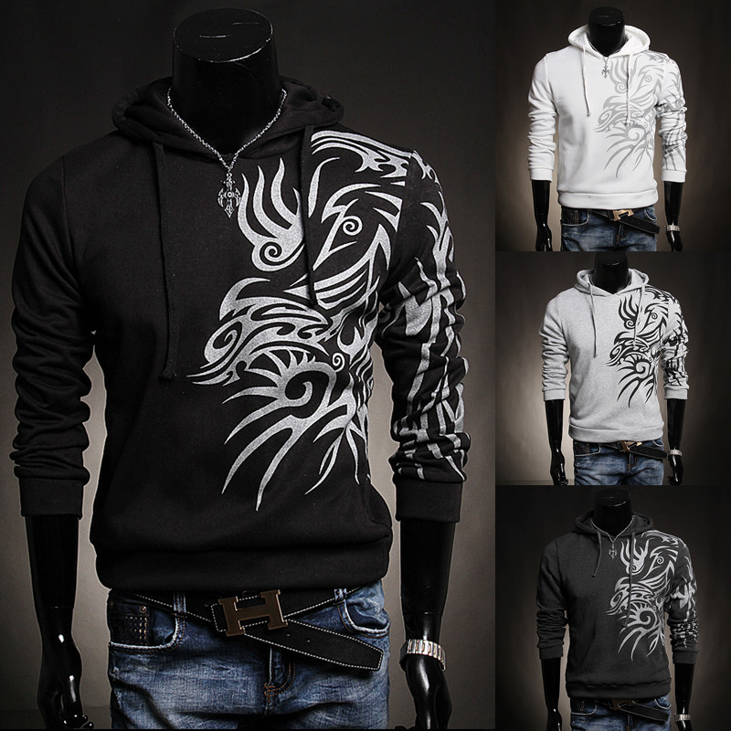 Drop Shipping Mens Autumn Winter casual sports hoodies jackets cotton Fashion print outerwear sweatshirt x-308 - working for best store
