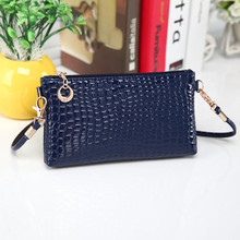 2015 Women Leather Handbags Crocodile Messenger Crossbody Clutch Shoulder Handbag For Women Free Shipping