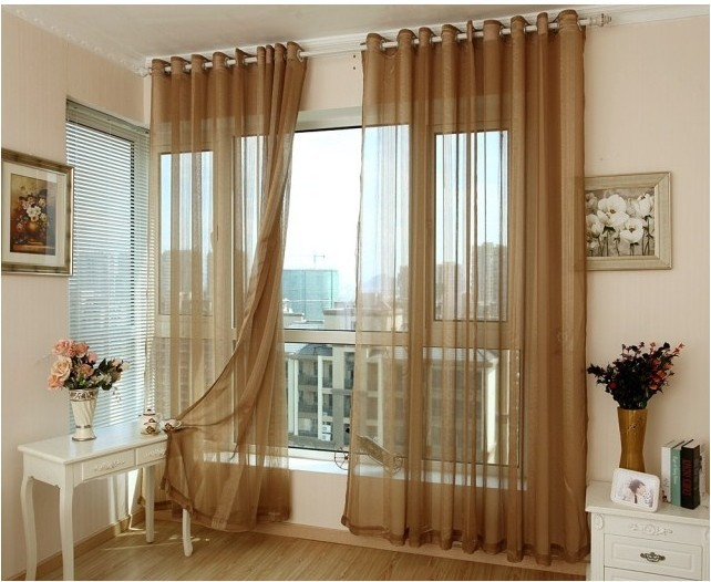New 2014 blinds quality jacquard window curtain tulle fabric home
