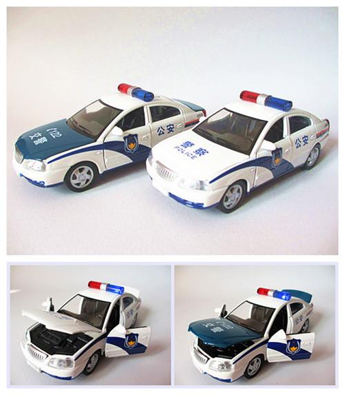 Beijing for hyundai elantra police car model toy 110 police car 122 police car acoustooptical WARRIOR(China (Mainland))