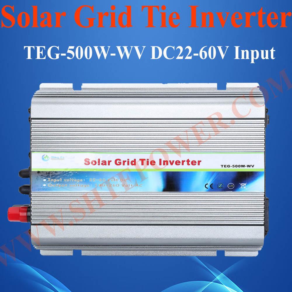 500 watt inverter 48V, on grid tie frequency converter 500W, solar panel 48V to 220V(China (Mainland))