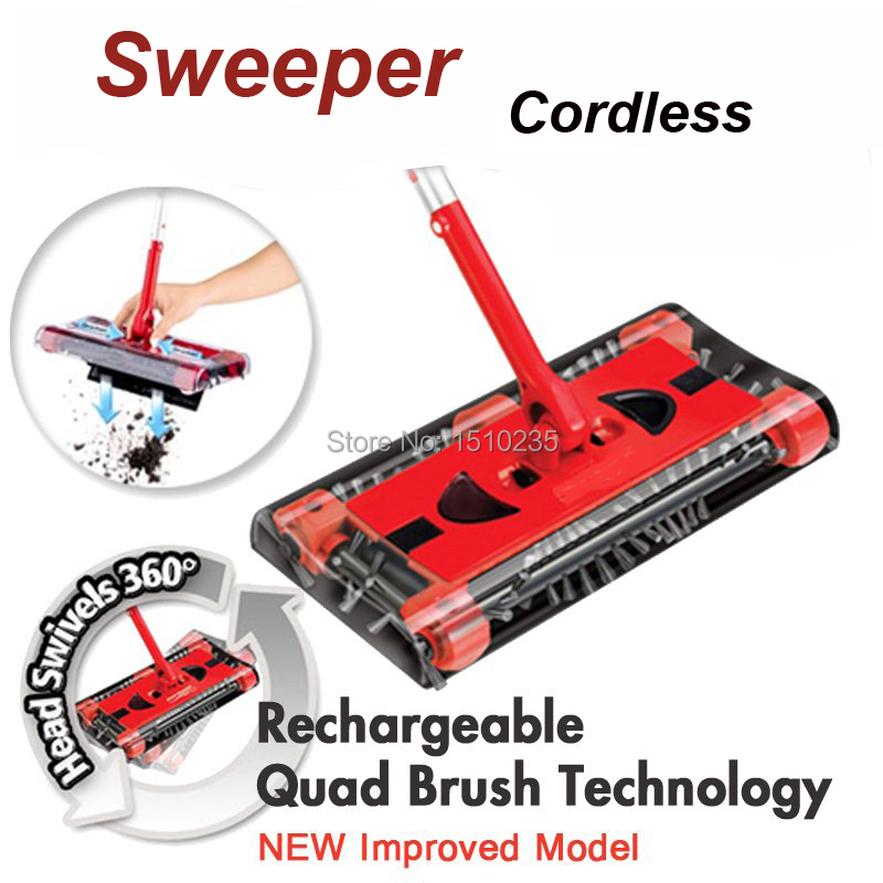 Brand New sweeper G6 Rechargeable battery ROTARY mop rod 360 degree for carpet floor cordless motorised electric vacuum cleaner(China (Mainland))