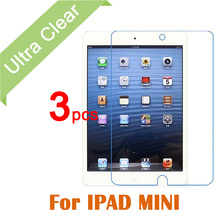 3pcs/lot For Apple iPad ipad mini1 2 3 Film Tablet PC Clear HD Glossy LCD Screen Protector Film with cleaning clothes