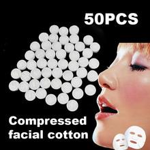 50 Pz Naturale Compresso Facciale Cotone Maschera Sonore DIY Cura Della Pelle Carta di Cotone(China (Mainland))