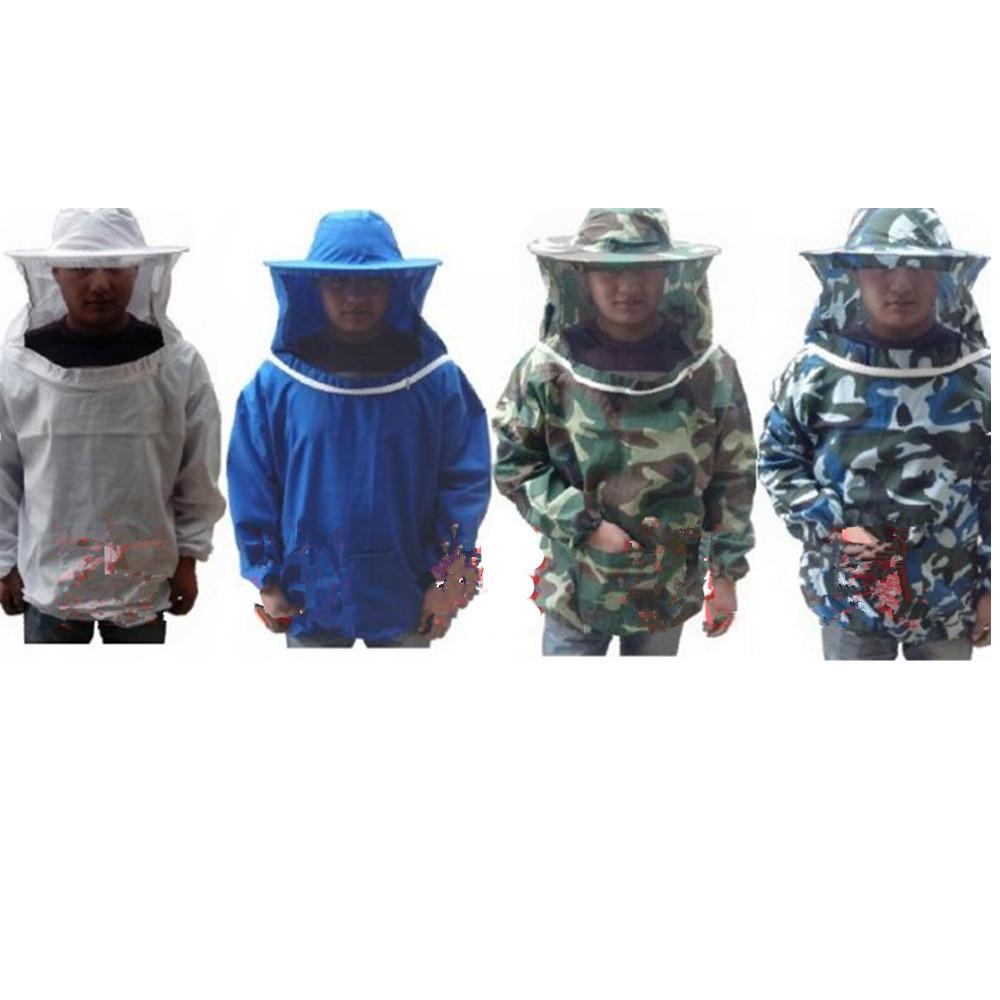 Adult Unisex Bee Professional Equipment Coat Beekeeping Keeping Sleeve Suit Protective Jacket Pull Smock Veil - Number One's store