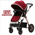 Good Shock Absorbers Deluxe Baby Strollers High Chair with 2 Pneumatic Wheel 2 EVA Wheel