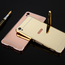 Buy Sony XA Luxury Mirror Metal Aluminum Frame Case Sony Xperia XA F3111 F3115 Shockproof Gold Plating PC Back Cover for $3.11 in AliExpress store
