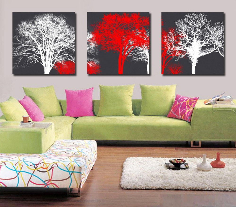 2015 painting calligraphy wholesale 3 piece wall art for Home decoration pieces