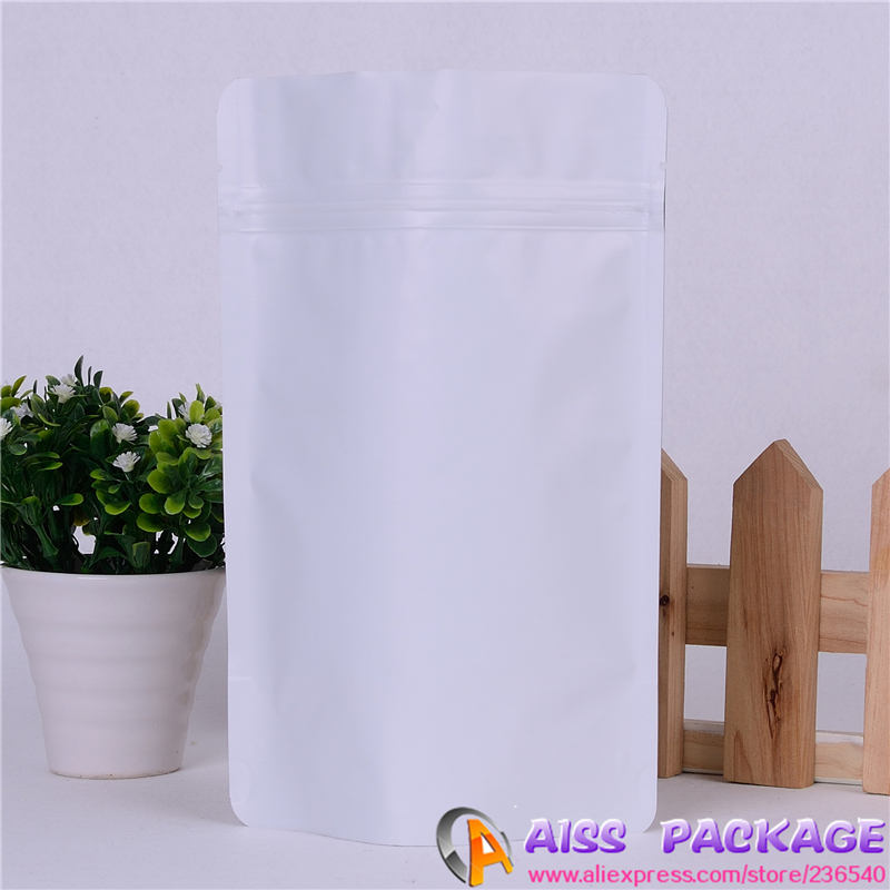 AISS-matte white food packaging,ziplock bag,15x23cm,foil coffee bags,foil bags,coffee bags(China (Mainland))