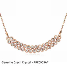 2016 Hot Sale Valentine's Day jewelry Rhinestone necklace made with Preciosa Czech crystals good for gift (China (Mainland))